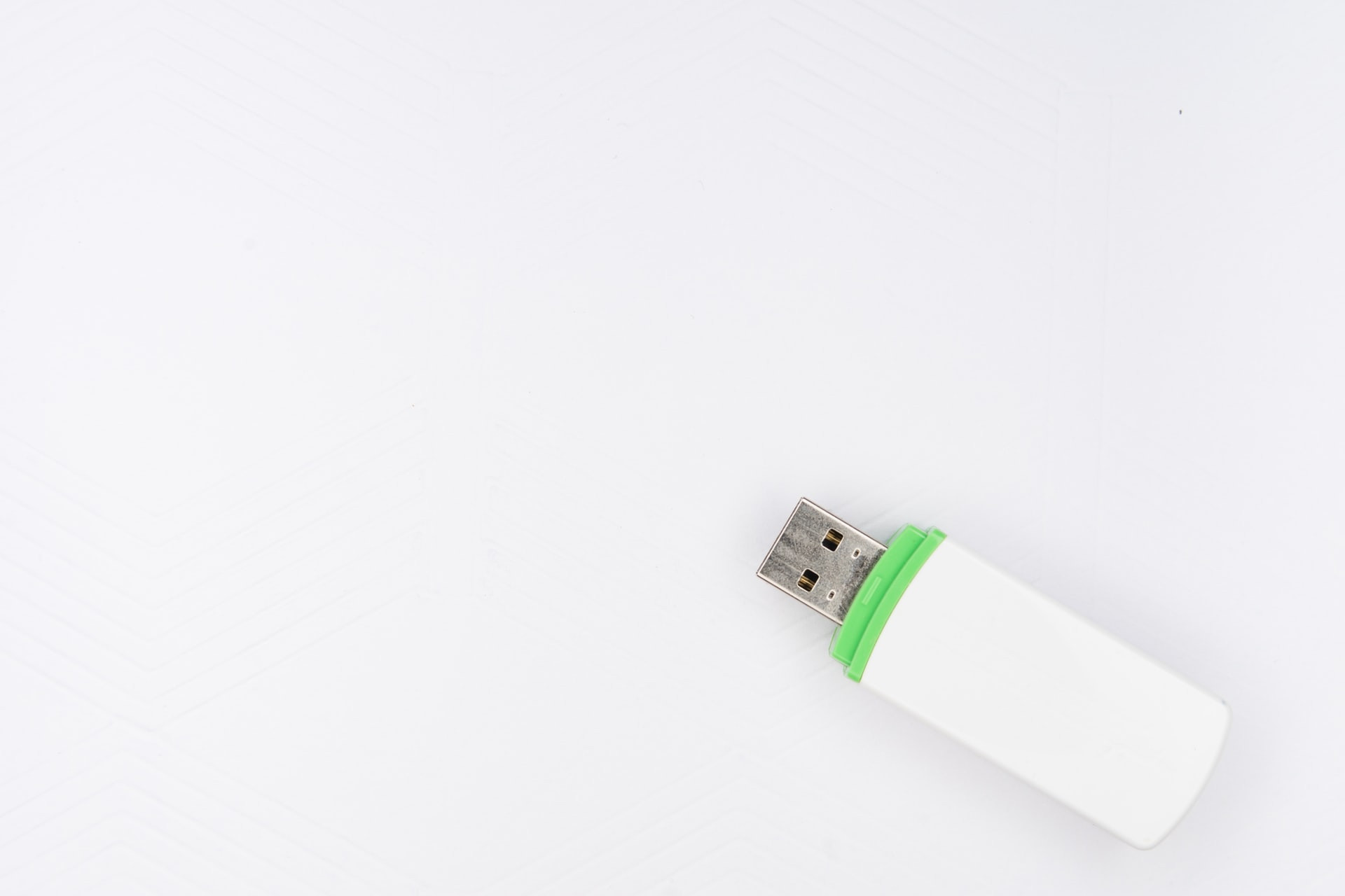 flash drive, white background